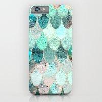 mermaid iPhone & iPod Cases featuring SUMMER MERMAID by Monika Strigel