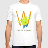 W is for Woooo! Mens Fitted Tee White SMALL