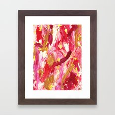 Hot Pink Mess Abstract Framed Art Print