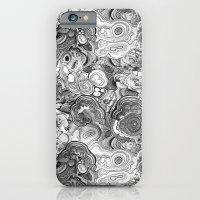 Malachite black and white iPhone 6 Slim Case