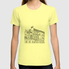 Old Town (Stare Miasto) - Warsaw, Poland Womens Fitted Tee Lemon SMALL