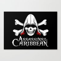 Assassins of the Caribbean Canvas Print