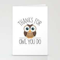 Thanks For Owl You Do Stationery Cards
