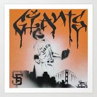 SF Giants Sergio Romo St… Art Print