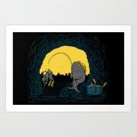 Fisher Fish Art Print