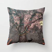 Throw Pillows featuring The party... by Ludovic Jacqz