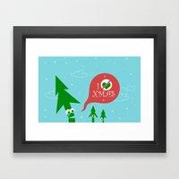 Greestmas. Save Xmas Trees Framed Art Print