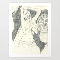 Pomegranate - Sketchbook… Art Print