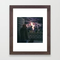 Majesty on a Rooftop Framed Art Print