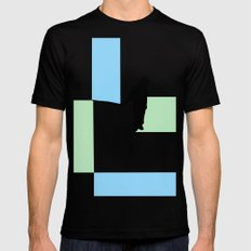 Fishing for Color Mens Fitted Tee Black SMALL