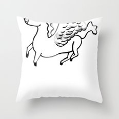 Mythical Thoroughbreds Throw Pillow