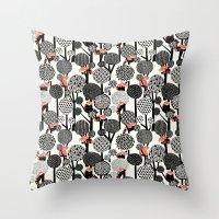 Red Pandas - White Throw Pillow