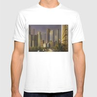 Cityscape Mens Fitted Tee White SMALL