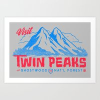 Visit Twin Peaks (hot pink) Art Print