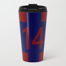 Legendary No. 14 in red and blue Travel Mug