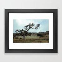 The love for Spooky Trees Framed Art Print