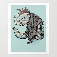 Punk Fish Art Print