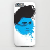 iPhone & iPod Case featuring Black, blue & white I by Chris Bliss