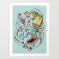 More Coffee Art Print