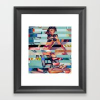 Glitch Pin-Up: Randi Framed Art Print