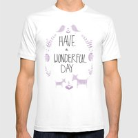 Wonderful Day Mens Fitted Tee White SMALL