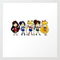 Sailor Scouts 5 Art Print