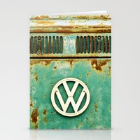 vw Stationery Cards featuring VW Retro by Alice Gosling
