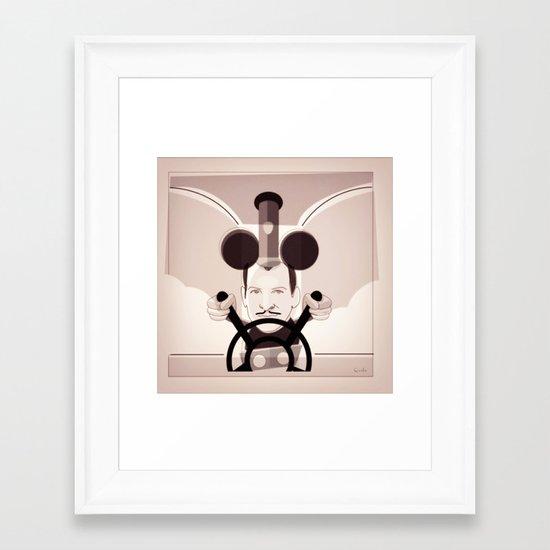 Jean Dujardin Steamboat artist Framed Art Print