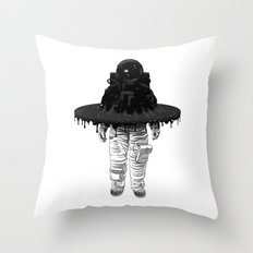 Through the Black Hole Throw Pillow