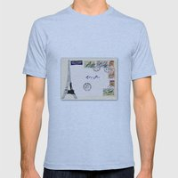 French Postage, Meet Me … Mens Fitted Tee Athletic Blue SMALL
