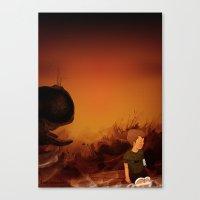 Forgotten sunrise Canvas Print