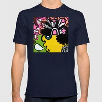 OPEN the PINK DOORWAY to YOUR MIND Mens Fitted Tee Navy SMALL