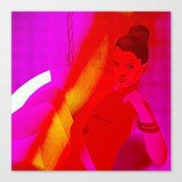 magenta baby Canvas Print