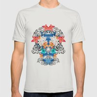 Hawaiian Skull Mens Fitted Tee Silver SMALL
