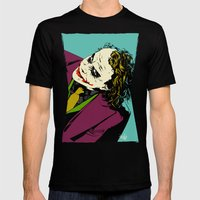 Joker So Serious Mens Fitted Tee Black SMALL