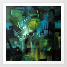 Things to Remember During a Flood - Abstract cityscape Art Print