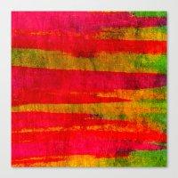 FIERCE - Intense Wild Nature Masculine Stripes Abstract Watercolor Painting Design Urban Fine Art Canvas Print