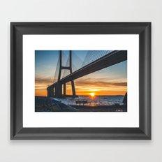 Watching the sunrise Framed Art Print