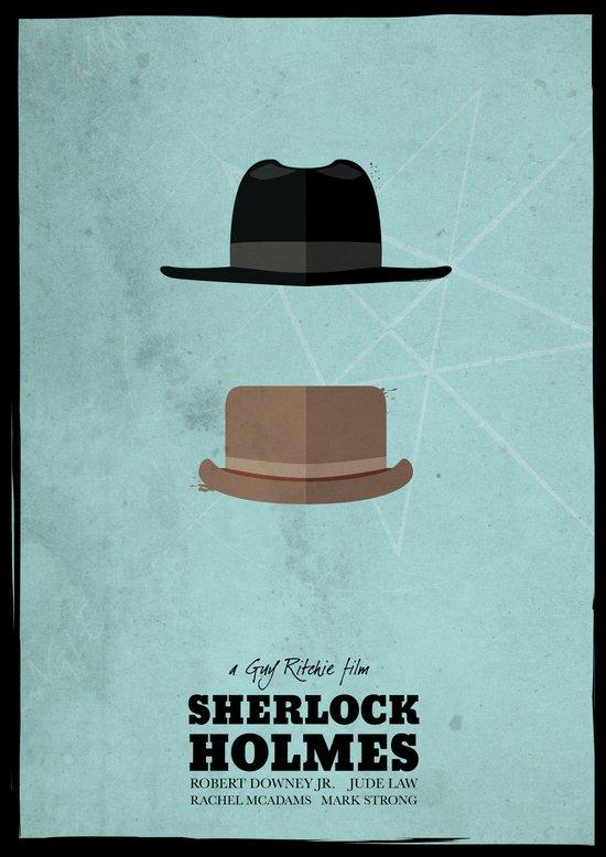 Sherlock Holmes (2009) - minimal poster Canvas Print