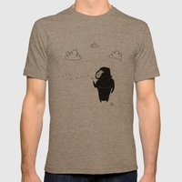 The Happy Dandelion Mens Fitted Tee Tri-Coffee SMALL