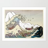 The Big Wave - Art Print