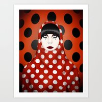 The Many Faces Of Peggy … Art Print