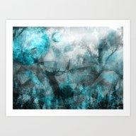Magic Blue World Art Print