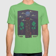 The Towering Bed and Breakfast of Unparalleled Hospitality Mens Fitted Tee Grass SMALL