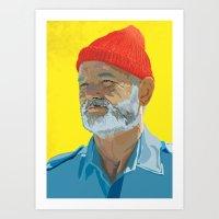 Steve Zissou / Bill Murr… Art Print