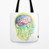 Anatomy Skull Tote Bag