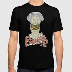 Royale with cheese Black SMALL Mens Fitted Tee