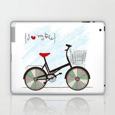 I {❤} My Bike Laptop & iPad Skin