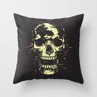 Scream (gold) Throw Pillow