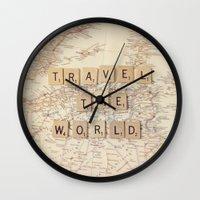 Travel The World Wall Clock